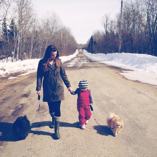 Walking at Lac La Nonne