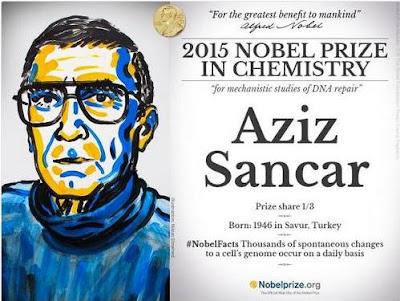 Aziz Sancar nobel kimya ödülünü kazandı