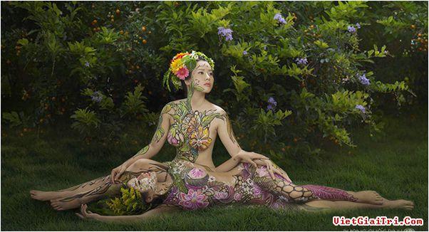 Ảnh gái đẹp sexy với body painting Phần 1 19