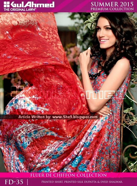 Gul Ahmed Summer 2015 Lawn Magazine