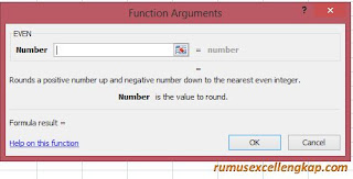 function argument rumus EVEN