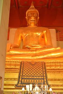 Gold Buddha at Wat Phra Mongkhol Bophit