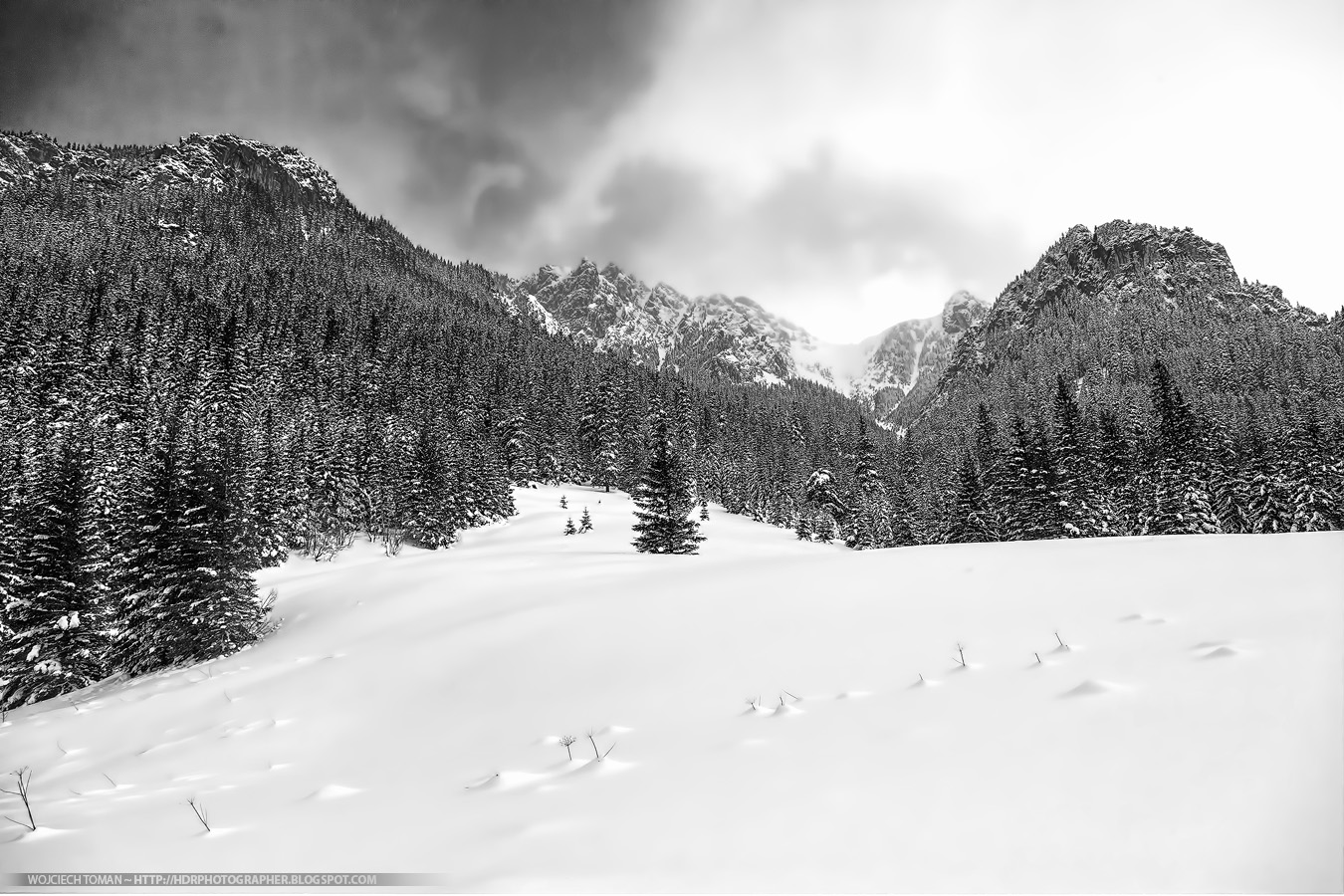 Panorama of Tatra mountains