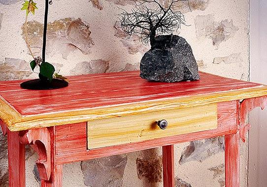 Pintura con efecto lavado y colores suaves for Lavado de muebles de madera
