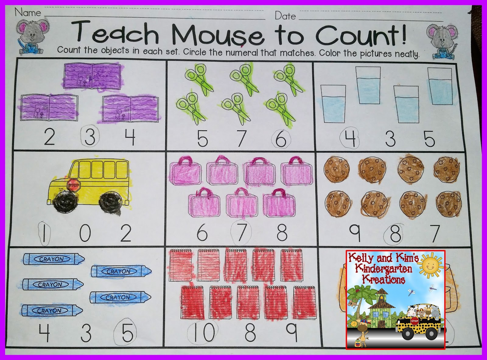 munchies for mouse is a great assessment for children to show what they have learned about writing numerals they will count the cookies in the ten frame
