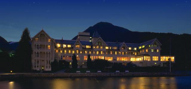 The stunning Kviknes Hotel in Balestrand.