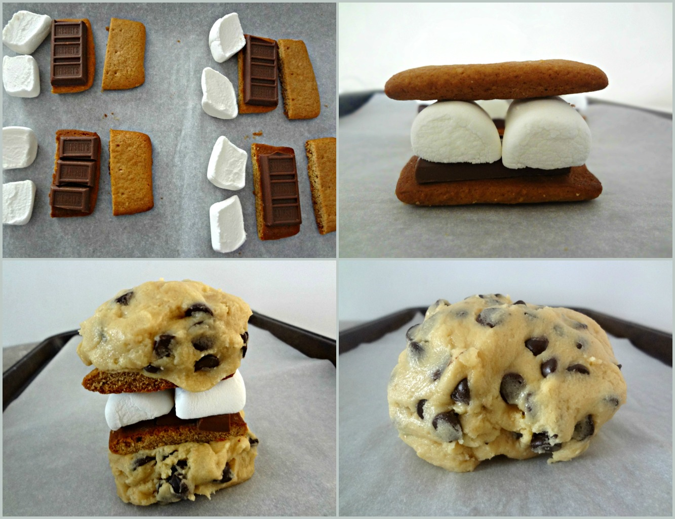 The Cooking Actress: S'mores Stuffed Chocolate Chip Cookies