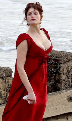british geema arterton busts out