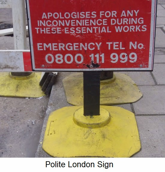 polite London sign