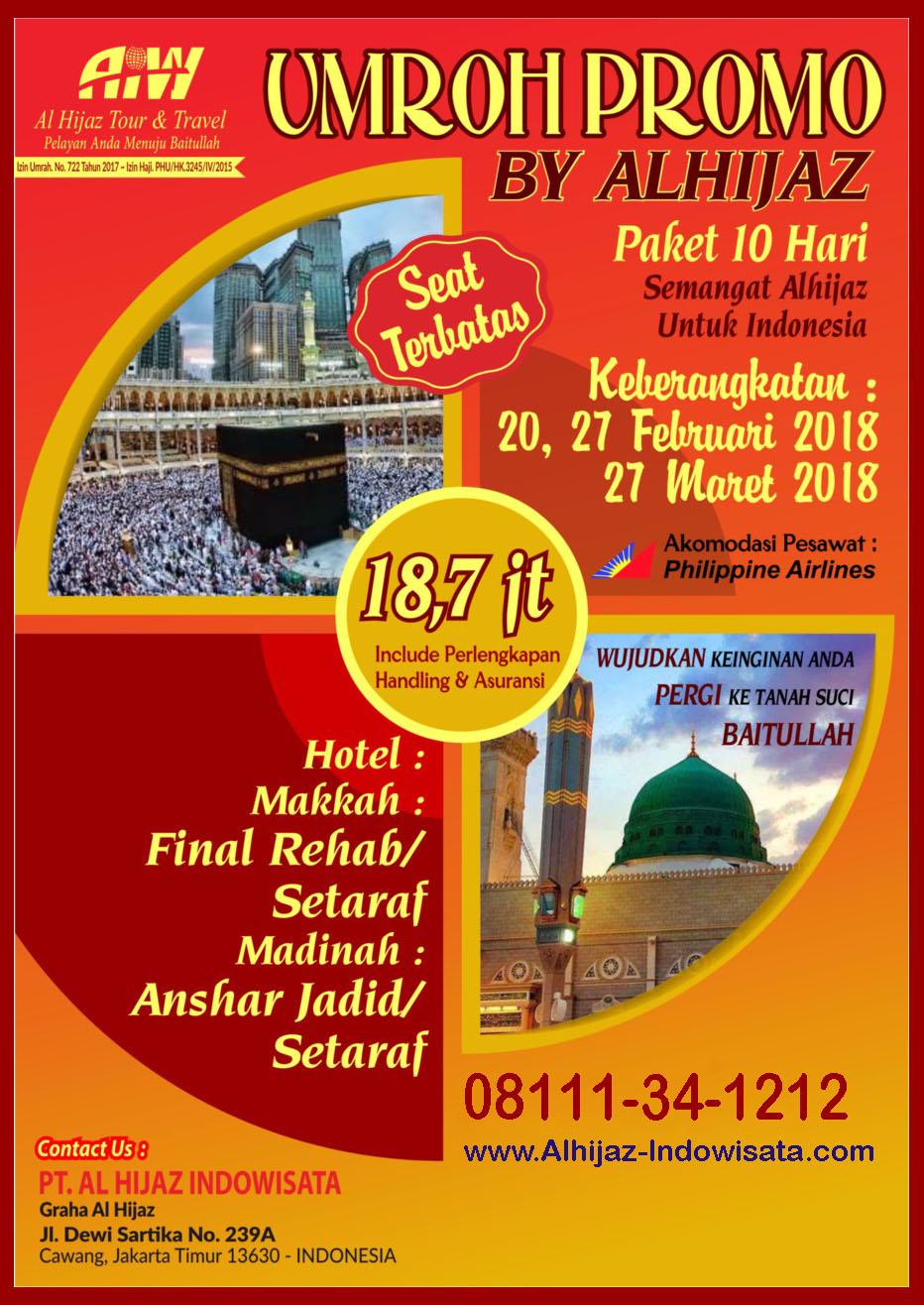 Promo Umroh Murah CP. 08111-34-1212