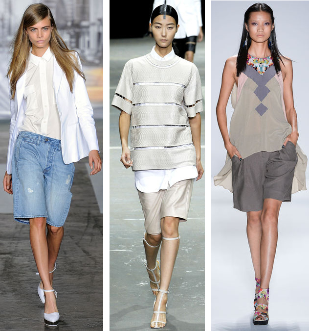 Spring 2013 Shorts Trend: DKNY// Alexander Wang// Nicole Miller