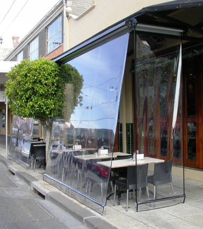 Outdoor Bistro Blinds And Awnings Melbourne Canvas Canopy Window Shades