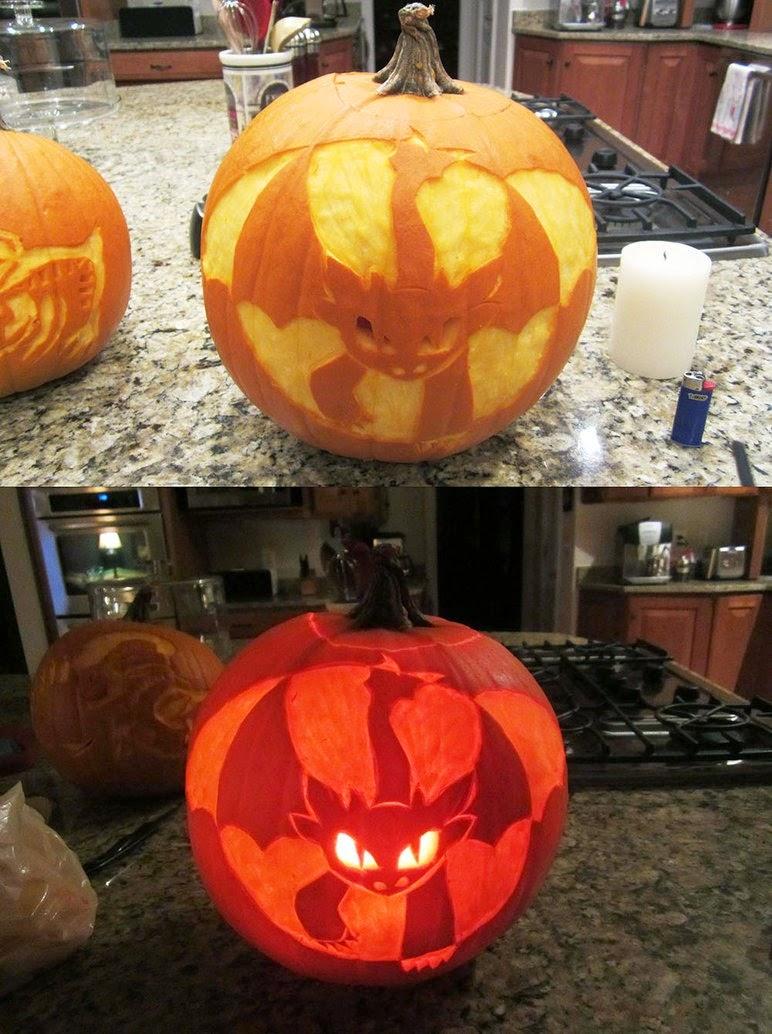 Hallowen Cat Jack O Lantern