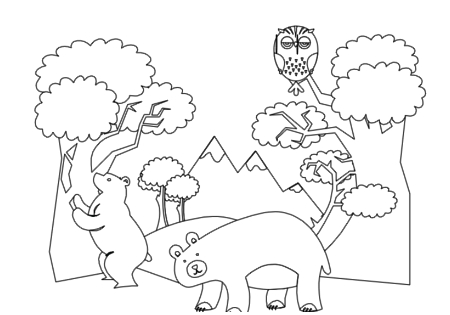 Free Forest Animals Coloring Book By Robert Aaron Wiley For Microsoft Office Online