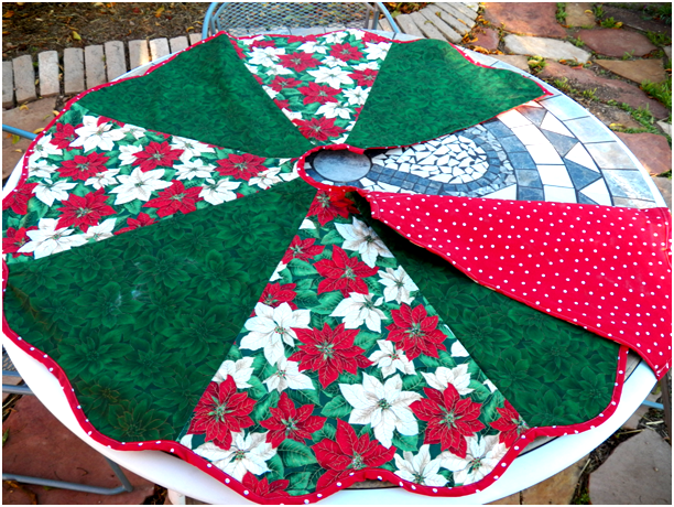 Pattern To Cut And Sew Christmas Tree Skirt