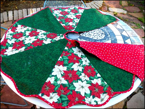 Art threads wednesday sewing christmas tree skirt