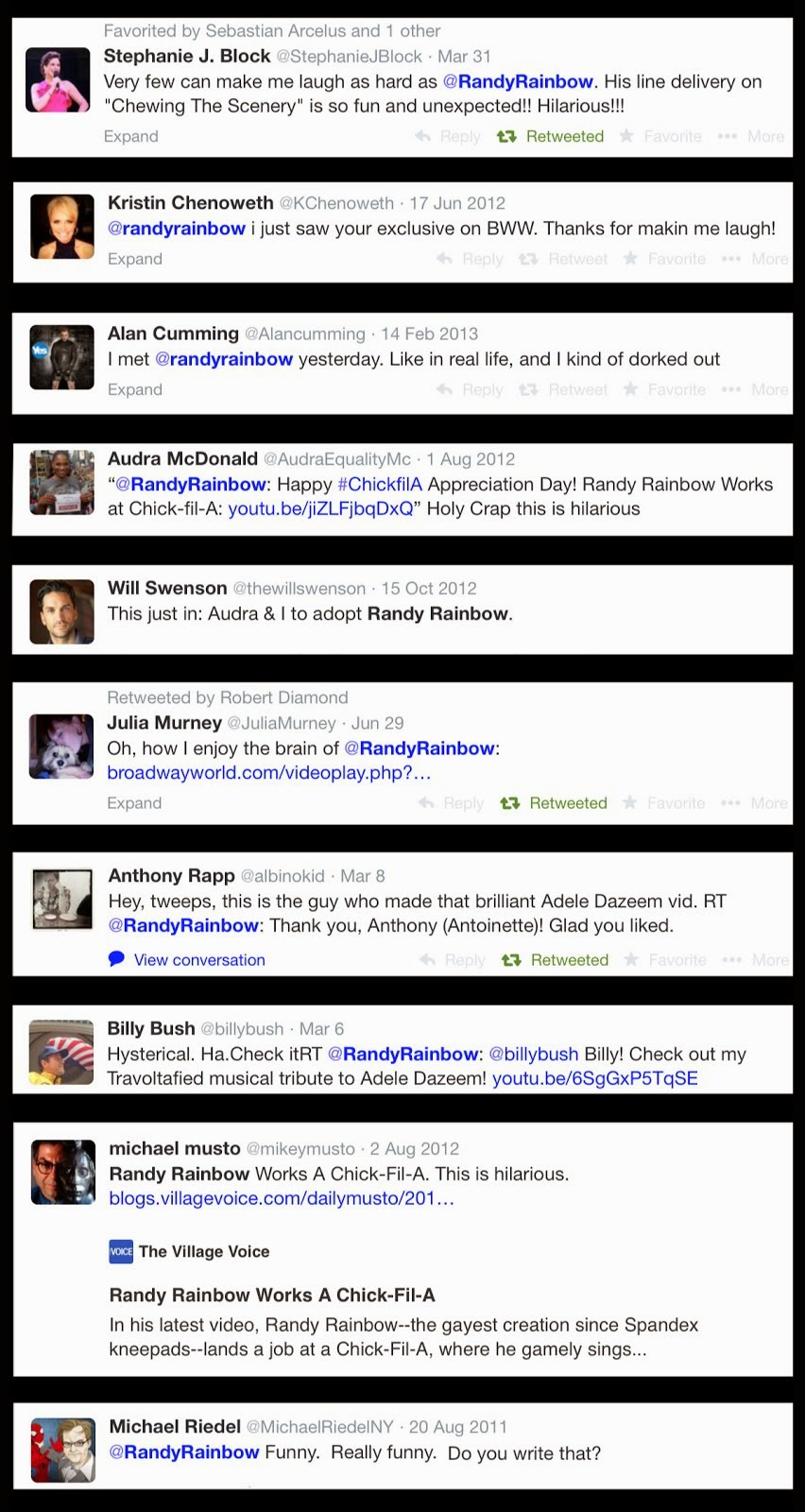 The Stars Are All a Twitter for Randy!