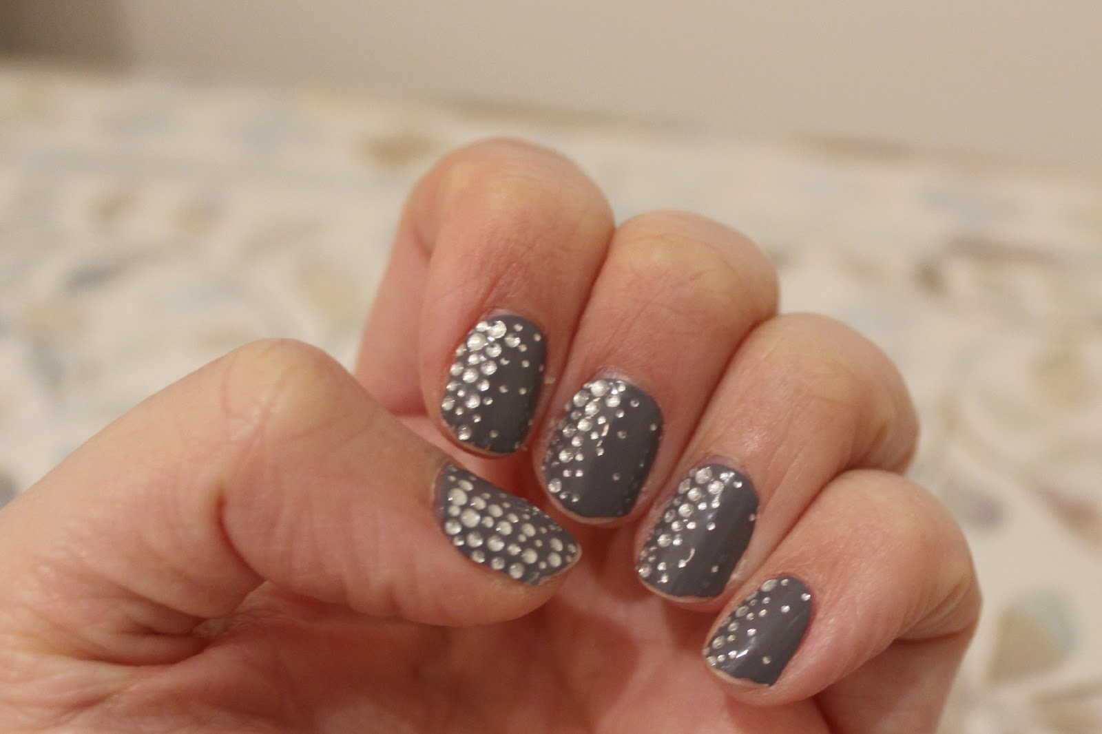 Nails of the week- Essie Sleek Stick in Stickers and stones | Mrs ...