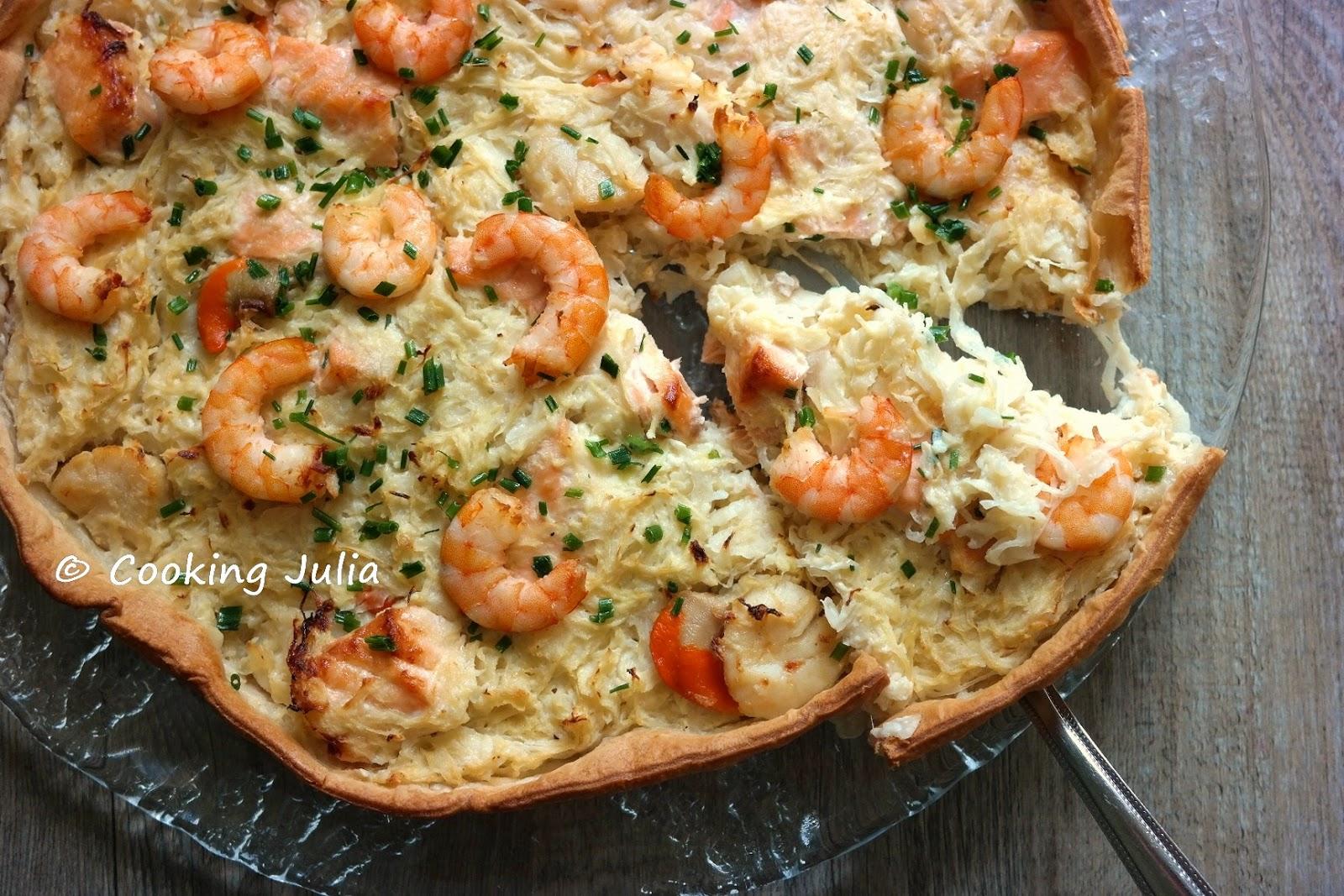 Cooking julia quiche la choucroute de la mer - Cuisiner choucroute cuite ...
