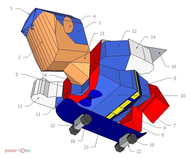 Suppa Man Papercraft Pose 2 Instructions