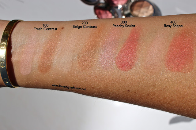 by terry compact contouring swatches