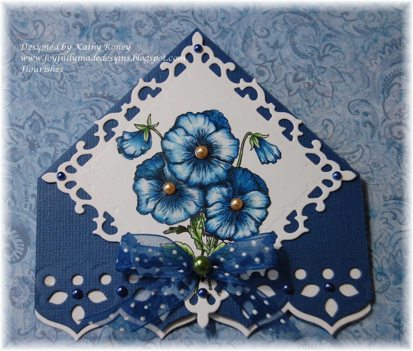 joyfully made designs corner bookmark flourishes fttc157