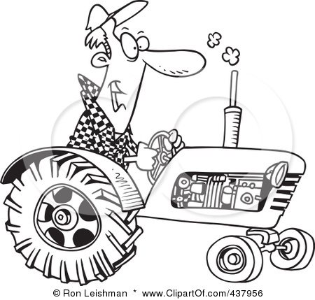 ... -Of-A-Cartoon-Black-And-White-Outline-Design-Of-A-Tractor-Driver.jpg