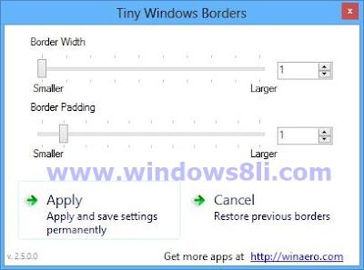 Windows 8 Pencere Kenarlıkları