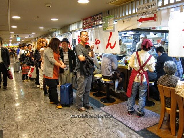 famous okonomiyaki in Hiroshima Station