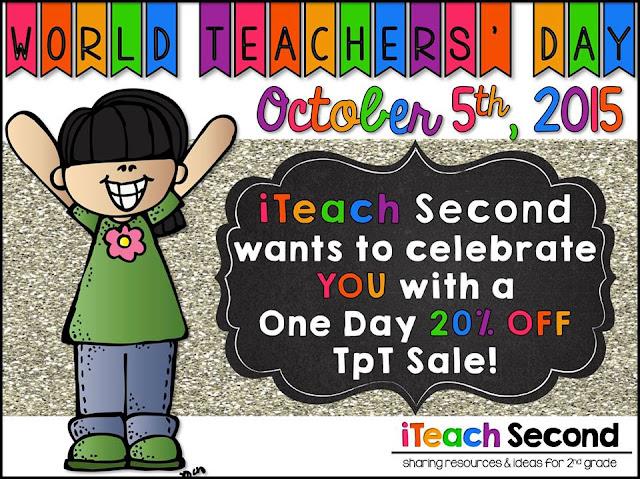Fern Smith's Classroom Ideas World Teachers' Day and iTeach Second SALE at TeacherspayTeachers!