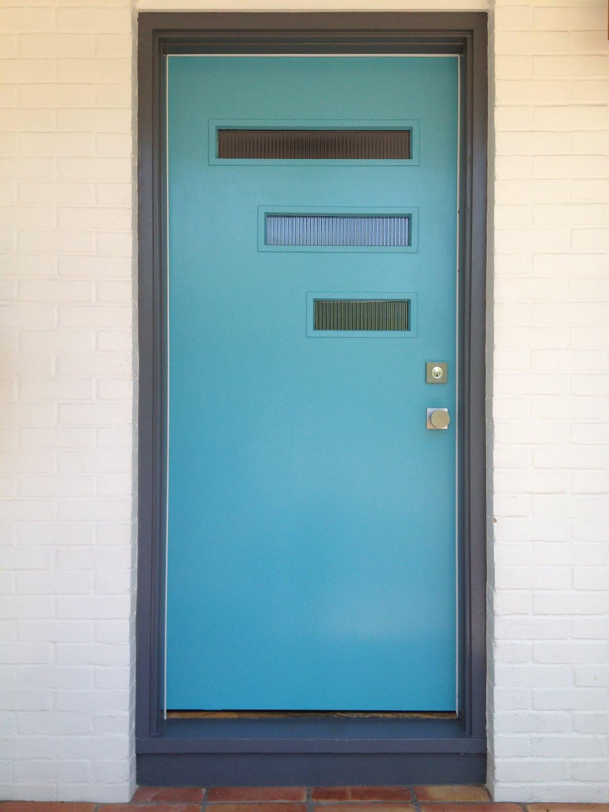 1600 #367C95 Mid Century Modern Glass Front Doors The Crestview Door Kit Worked picture/photo Mid Century Front Doors 44391200