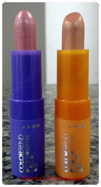 Batons Avon Color Trend Pop Love Tutti-fruti e Damasco