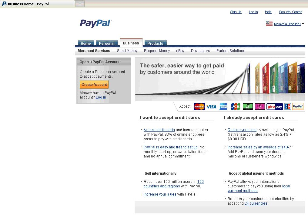 how to make a paypal business account