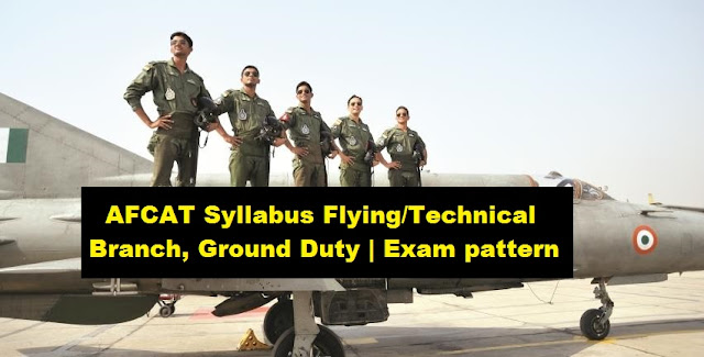 AFCAT Syllabus Flying/Technical Branch, Ground Duty | Exam pattern
