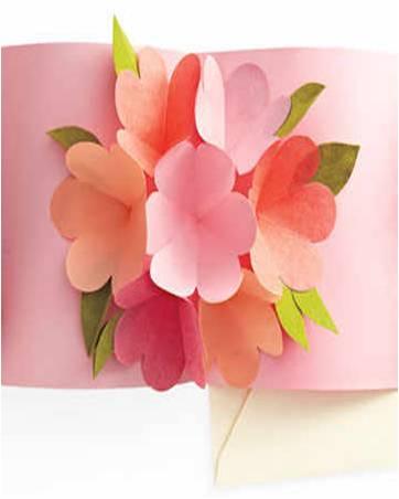 Arte Color: Tarjeta Día de la Madre Pop Up en Kirigami