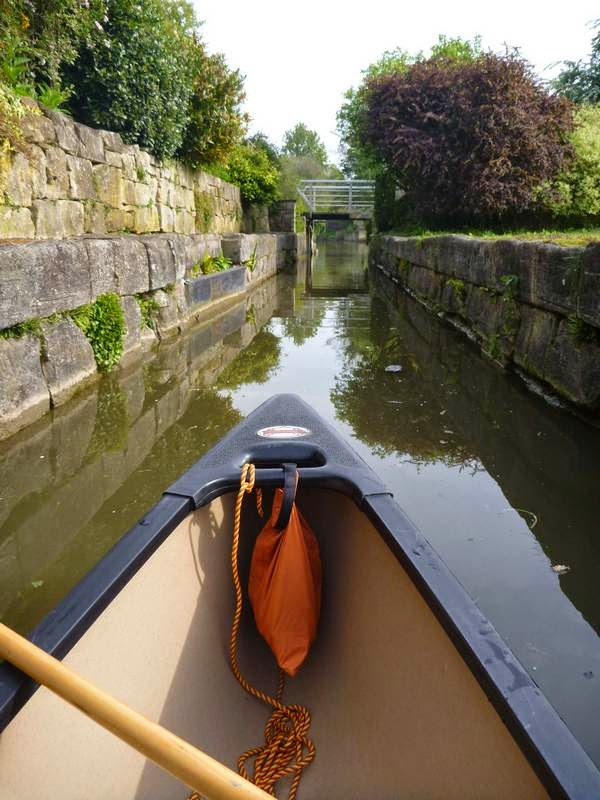Paddling in the canals