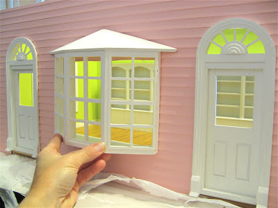miniature pink dollhouse bakery