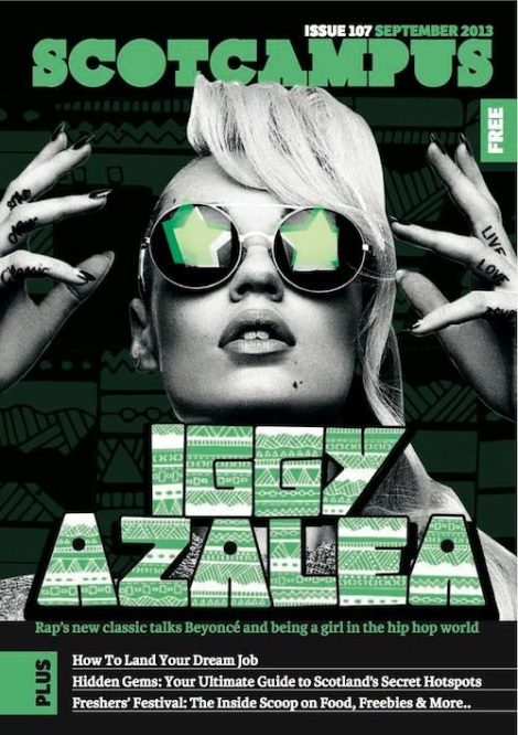 Iggy Azalea on Scotcampus September issue Cover