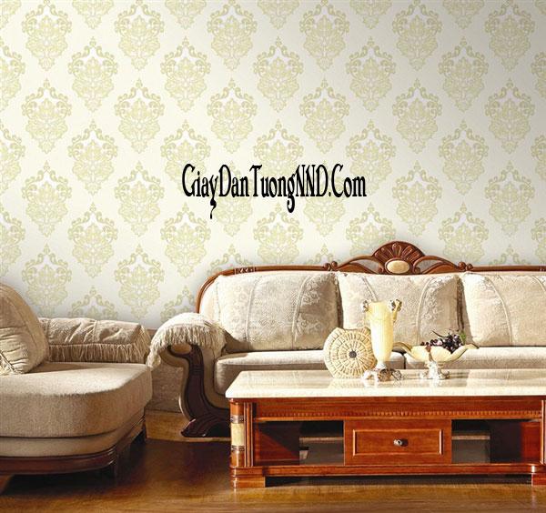 Giấy dán tường hoa văn cổ điển cho phòng khách