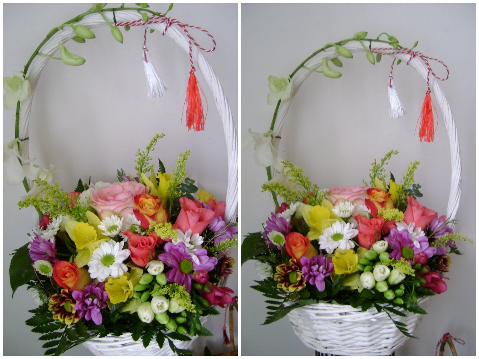Flower Decor : Cos cu flori - 8 Martie