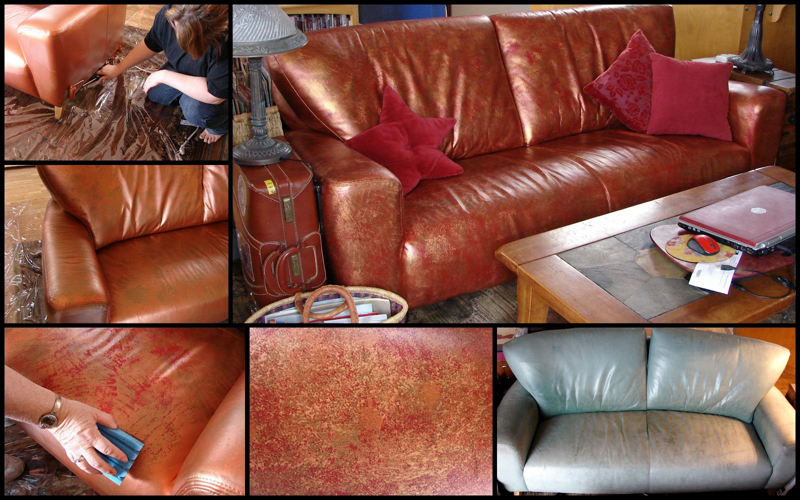 Altered by the sea june 2012 for How to paint leather furniture