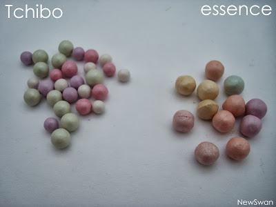 Die Puderperlen von essence und Tchibo im Vergleich