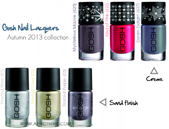 Gosh nail lacquers Autumn 2013 collection