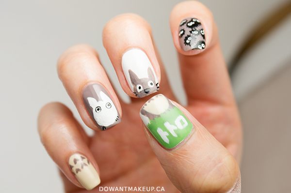 My Neighbor Totoro nail art