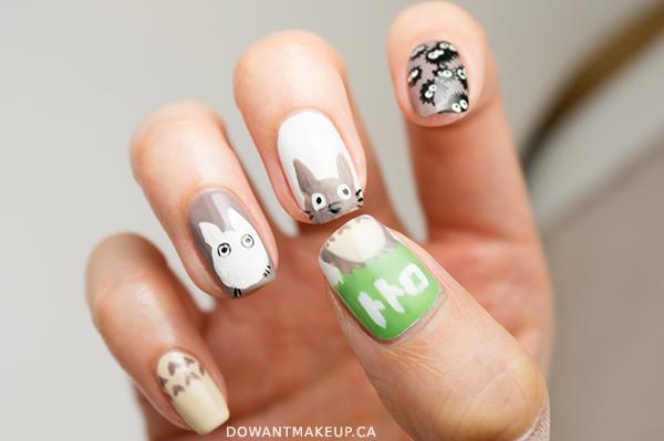 My Neighbor Totoro nail art