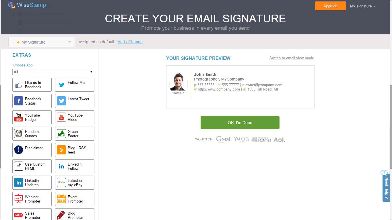 Как сделать подпись для gmail 737
