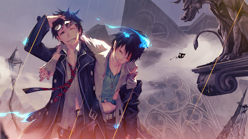 ao no exorcisty yukio rin okumura anime hd wallpaper