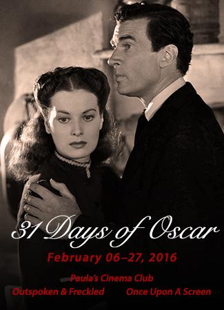 31 Days of Oscar blogathon 2016