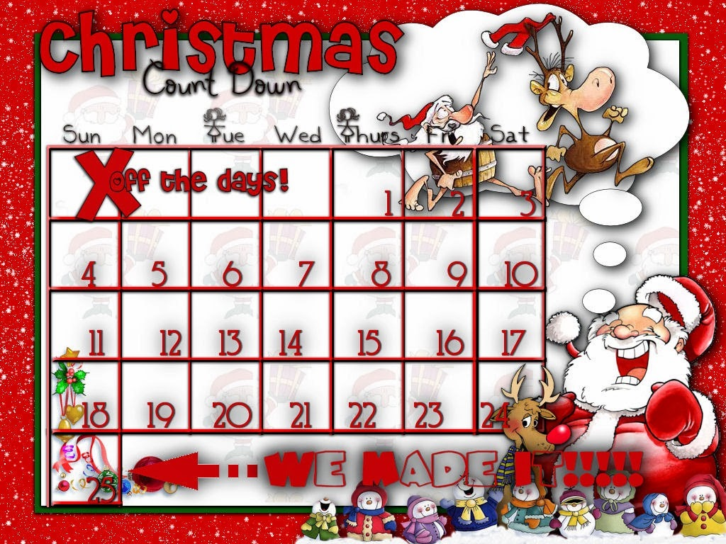 Christmas Calendar Pictures : Printable christmas countdown calendar new