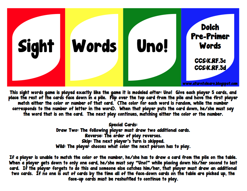 "free LESSON ARTS LANGUAGE Lesson Words sight  The    FREE Uno  printable  ""Sight Cloud: Pre  word bingo cards"